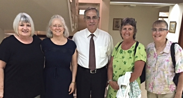 Marilyn, Nancy, Juli and Julie with Dr. George Sabra