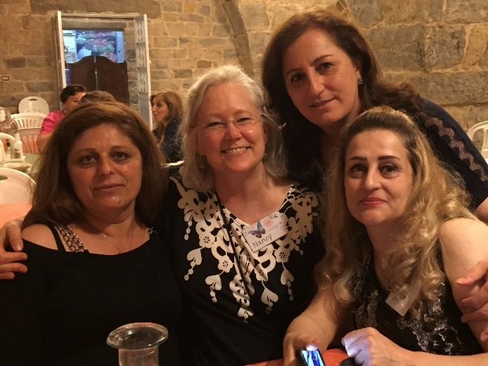 Nancy with our sisters from Mhardeh
