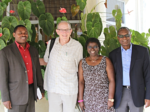 Rev. Dr. Viateur Ndikumana (PIASS), Rob Weingartner (TOF), Ebralie Mwizerwa (TOF), Rev. Dr. Elisée Musemakweli (PIASS)