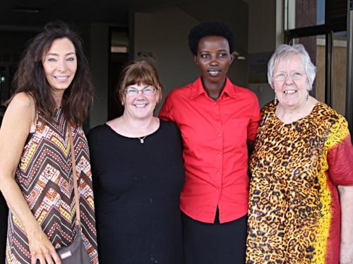 Andrea Gaskins (FPC Huntsville), Heidi Meadows (FPC Huntsville), Donatha Ndacyayisenga (PIASS student), Rev. Kay Day(PIASS)