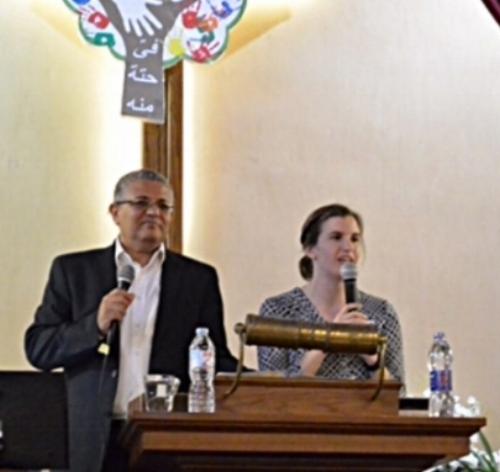 Rev. Kimmy Stokesbary preaching at the Attareen Church