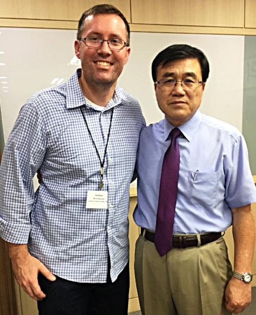Josh Hanson and Choon Lim at Presbyterian Mission Center, Seoul Korea