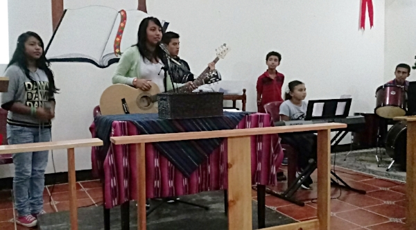 Youth band at Antioquia Presbyterian Church