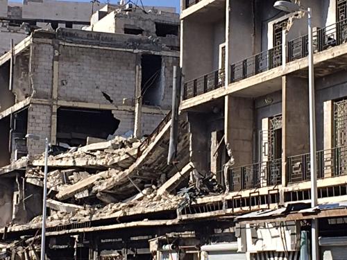 Destruction in Homs