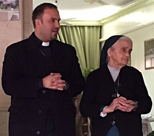 Rev. Mofid with Sister Valentin