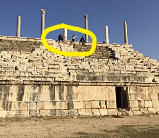 Modern version of human scale in the ruins of Tyre