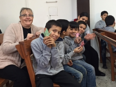 With the refugee children in Tyre