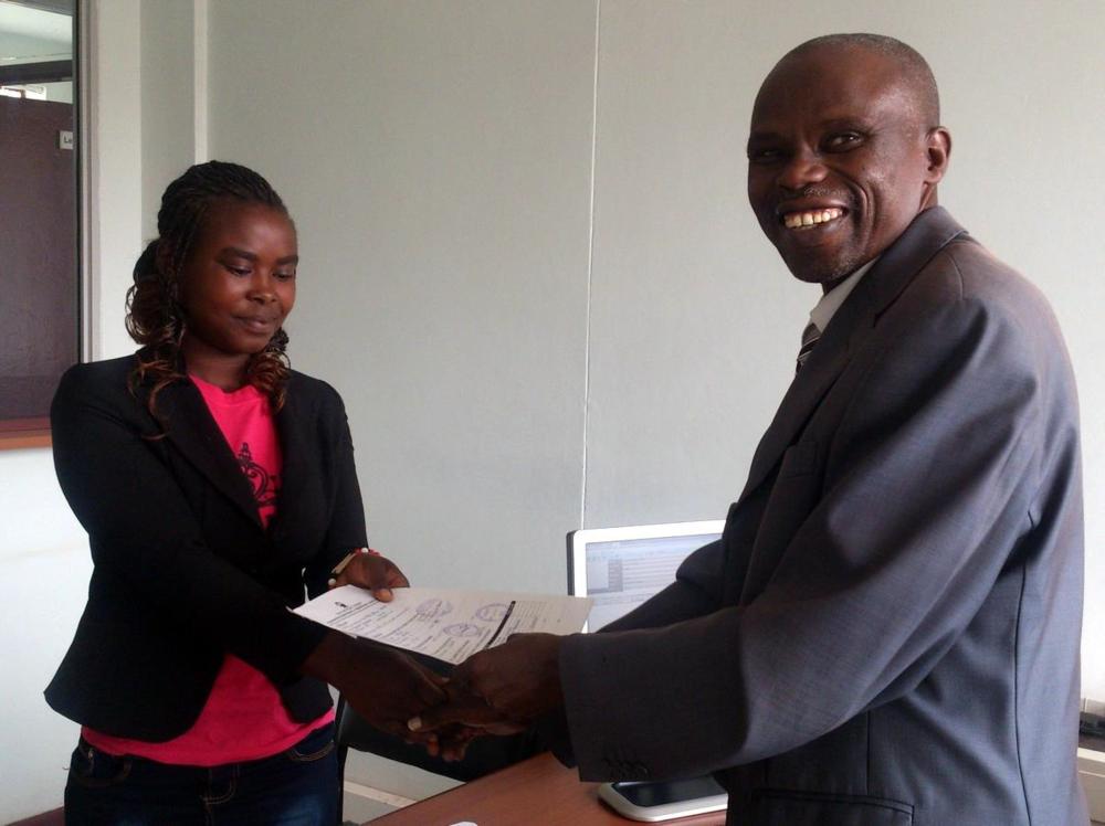 Mercy and the Kenya Methodist University finance director