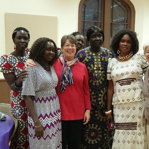 Women from the Sudanese Church in Gallatin, Tennessee with Elder Ann Waddle from their sister church in Clarksville, TN