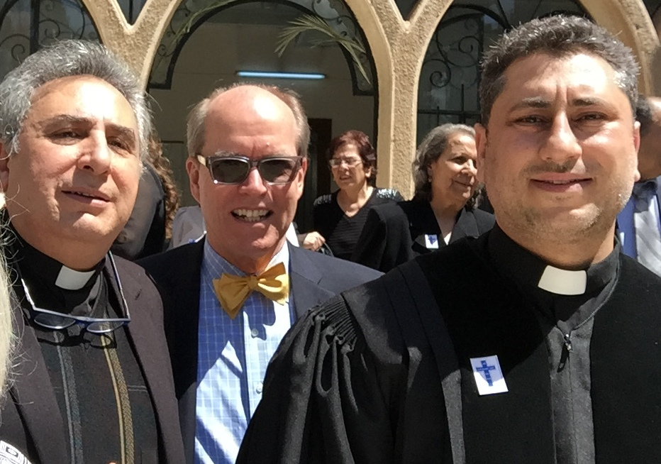 Rev. Joseph Kassab, Mark Borst and Rev. Firas Ferah