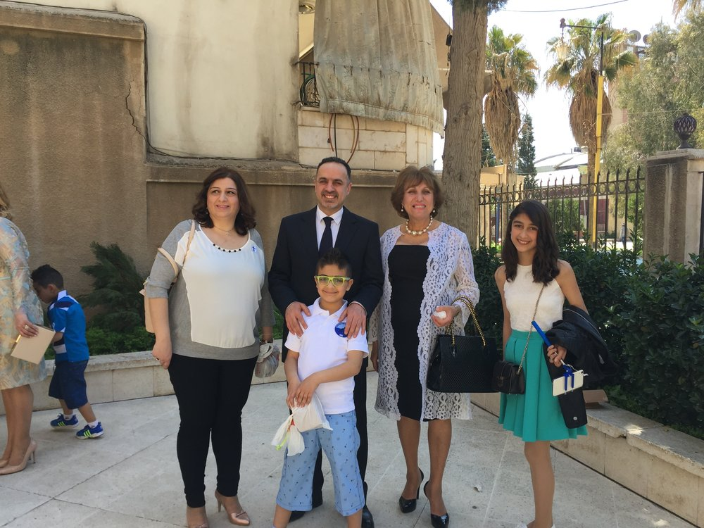 Elder Riad and his family, Qamishli