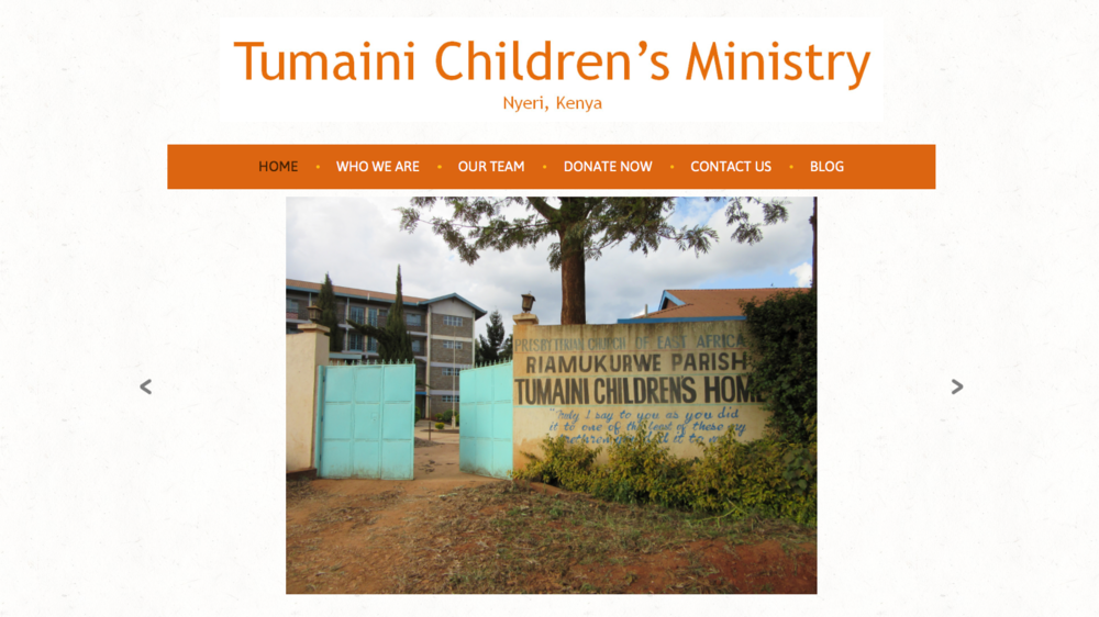 View TumainiNyeri.org website