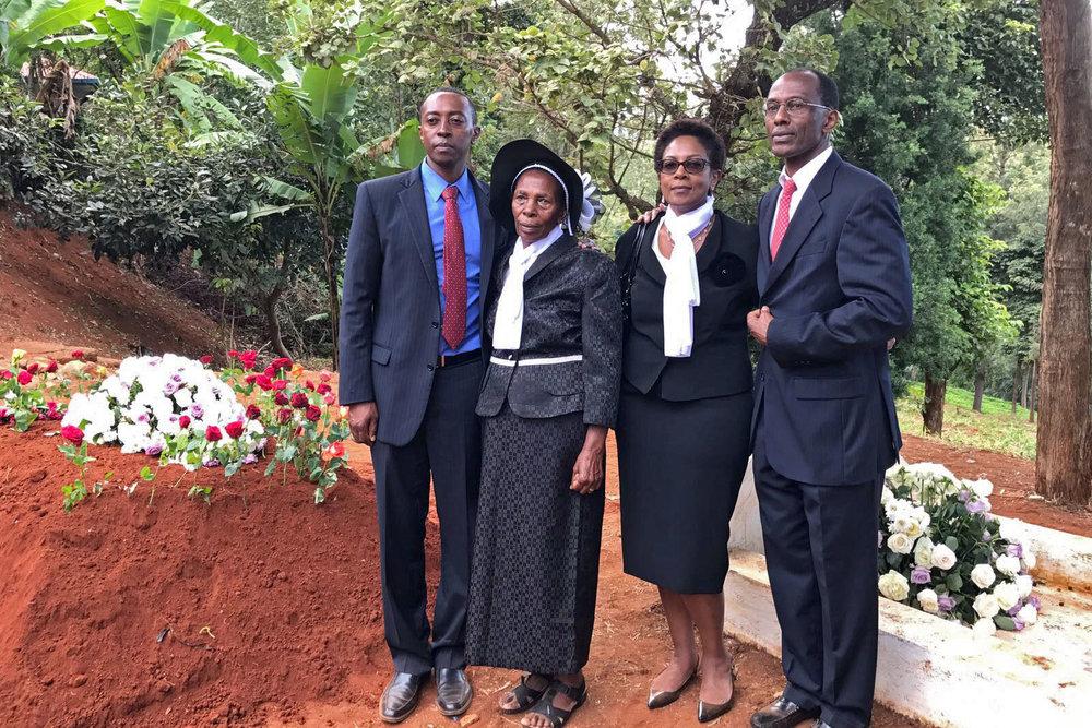Timothy Muindi, Eunice Muindi, Anne Muindi-Shemenski, and Tennyson Muindi