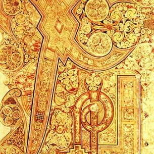 Chi Rho page from the Book of Kells