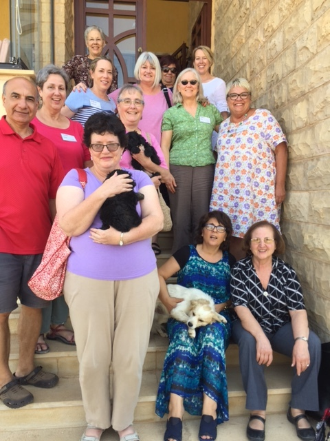 The Outreach Foundation team with the Kassis family at their home in Zahle.