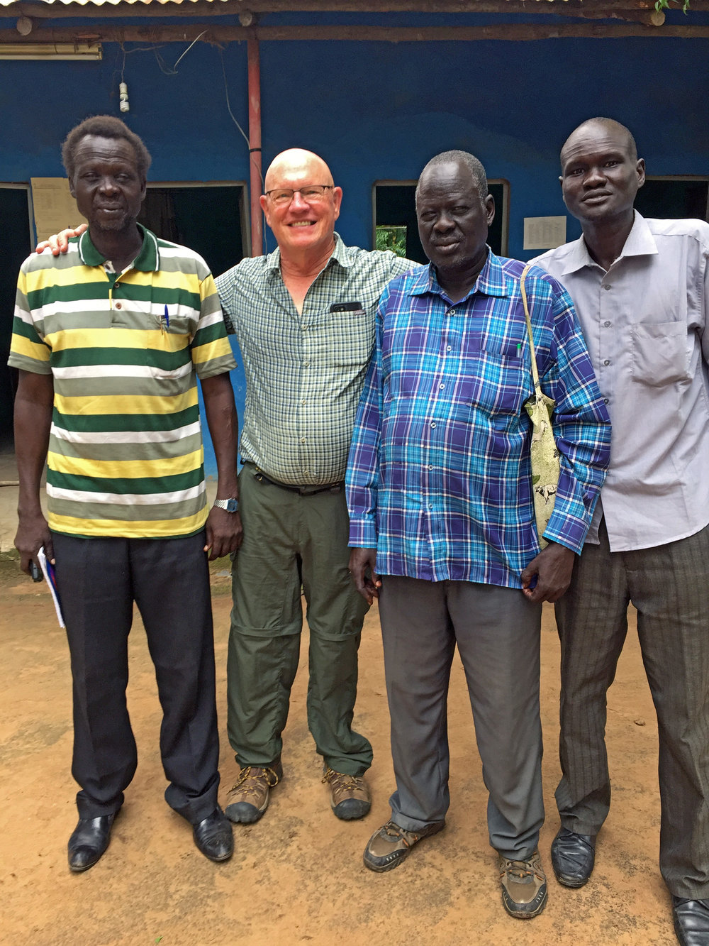 Chip Grammer with leaders from Akobo Presbytery.
