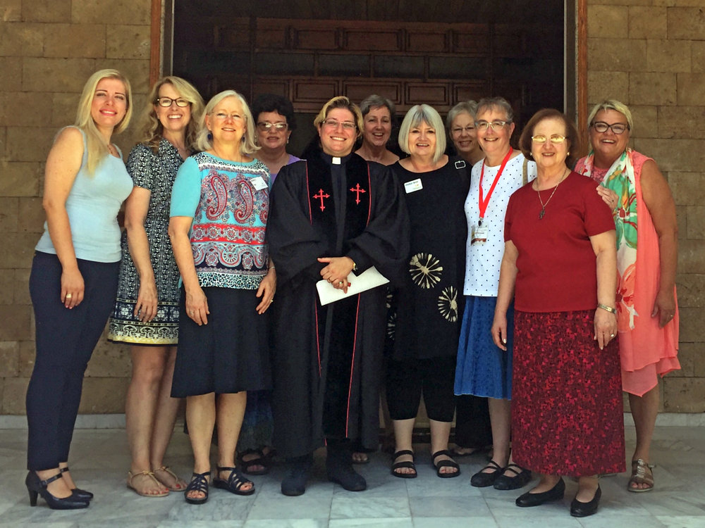 Our group with Rev. Rola Sleiman, pastor of Tripoli Church.