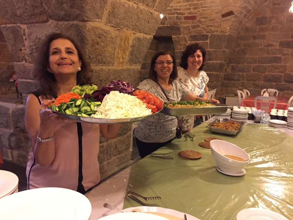 The great banquet served by Lina, Mona and Lena of Latakia, Syria.