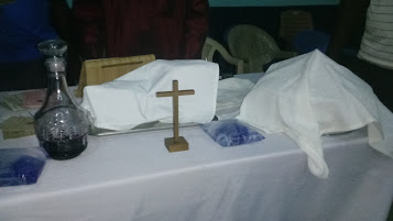 The Lord's table at Nyerizee Presbyterian Church