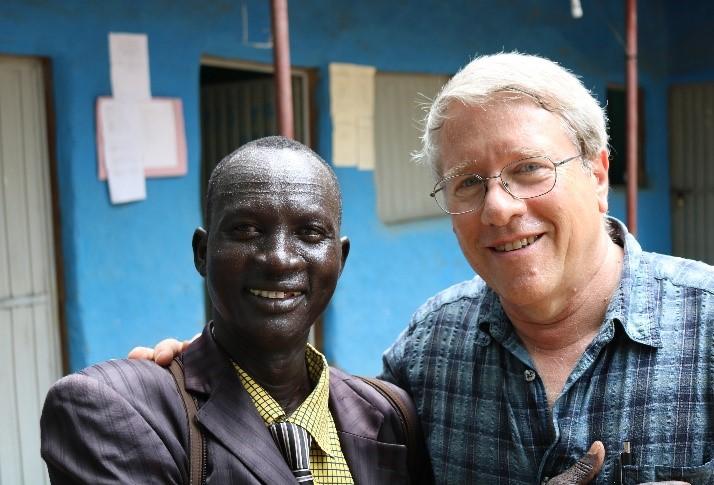 Frank and a South Sudanese refugee teacher