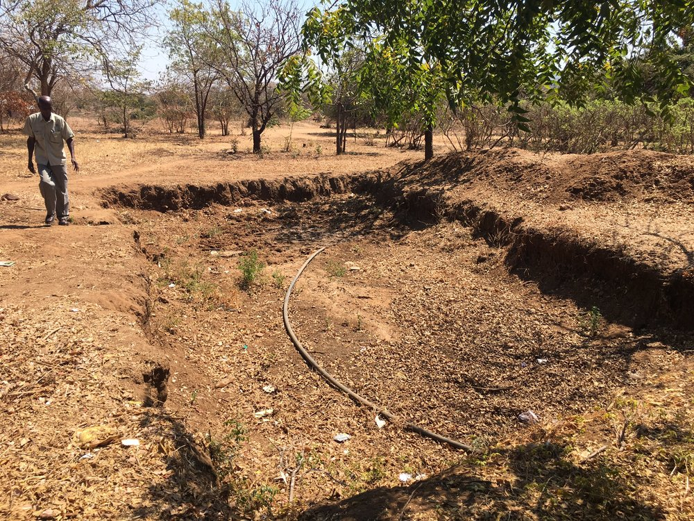 Site of future fish pond at Namumu