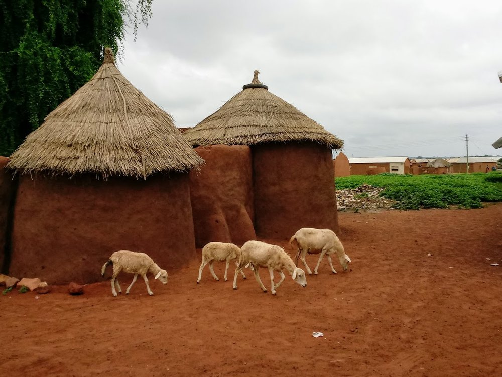 A typical village in the Upper Presbytery region of Uganda