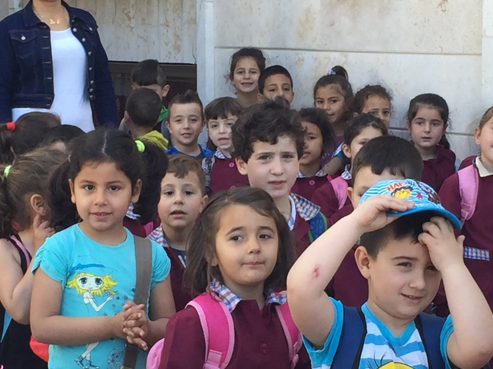 In Mhardeh, the kindergarten nurtures 40-50 children.