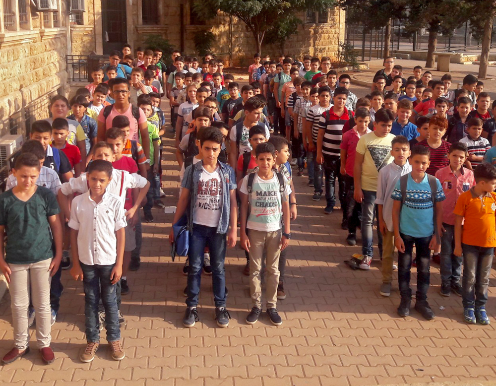 In Aleppo, the new academic year begins at the Presbyterian Church's school.