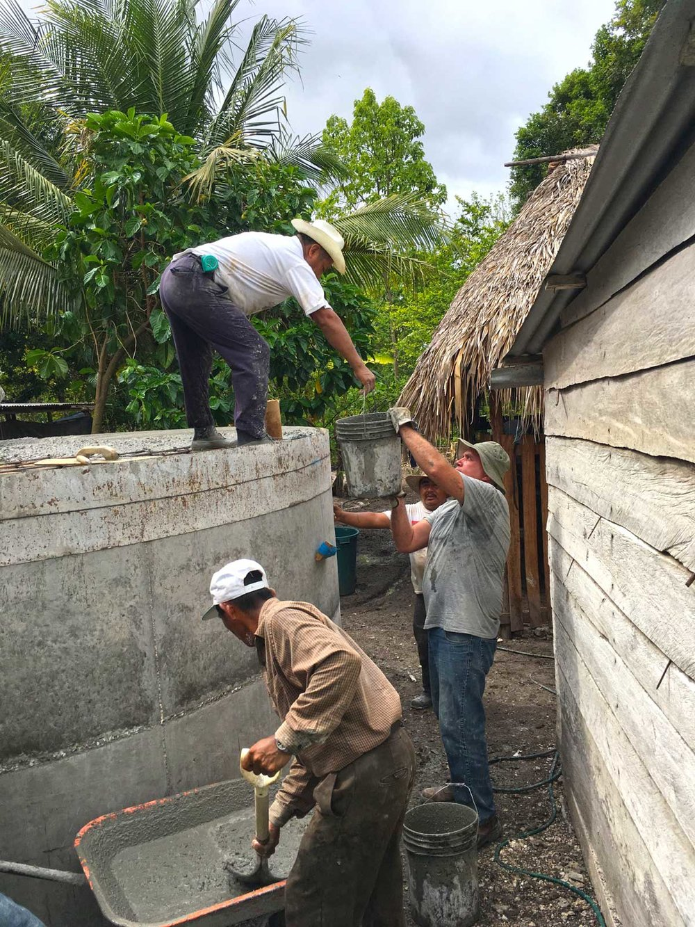 Building a cistern in Mexico -