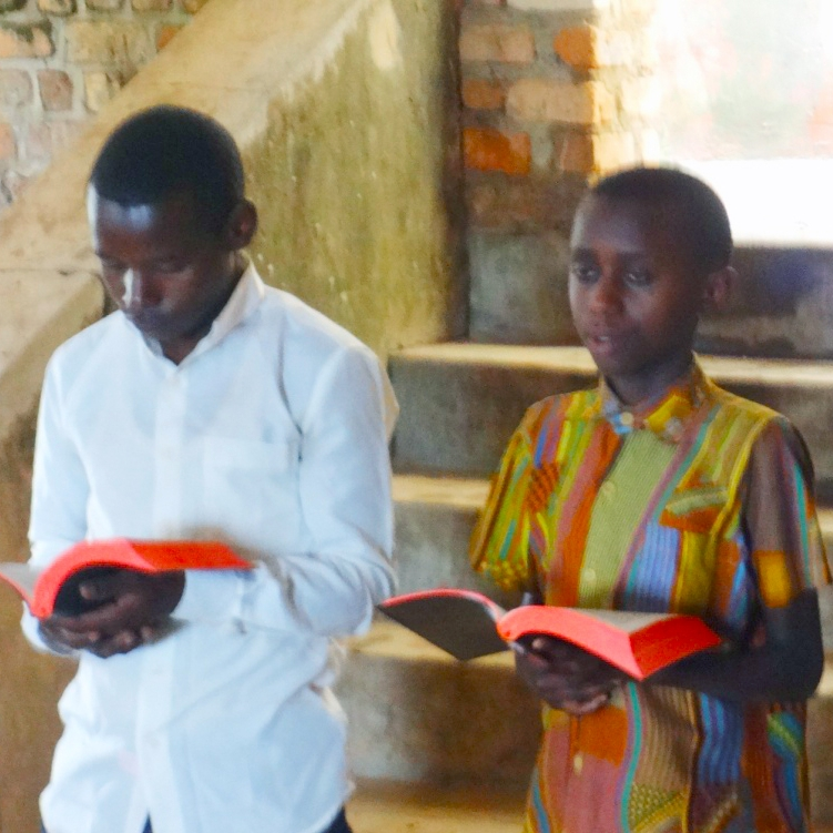 Young people received Bibles, too.