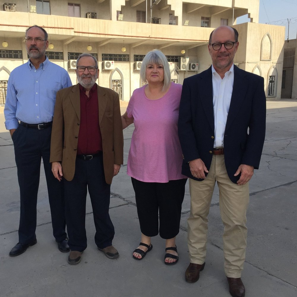 My team (Steve, Nuhad, Ben) and I at the Presbyterian Church in Baghdad