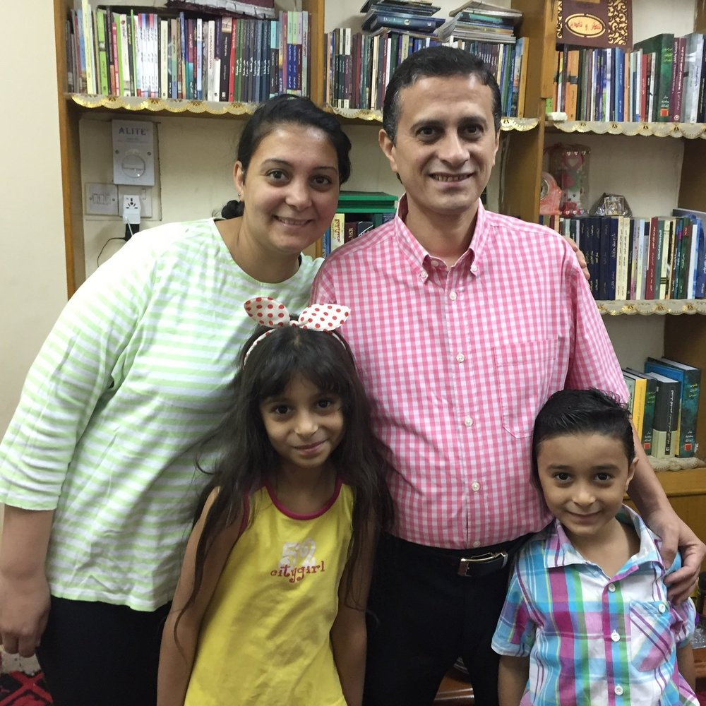 Sent from Egypt, Rev. Amgad Samir and his wife, Mary, are serving the Presbyterian Church in Basrah. (their children are Joyce and John)