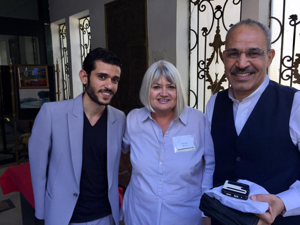 Marilyn with Pastor Medhat and Pastor Magdi