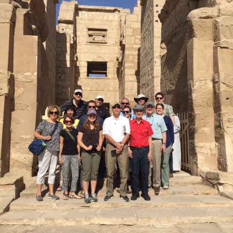 The team at the Habu Temple entrance