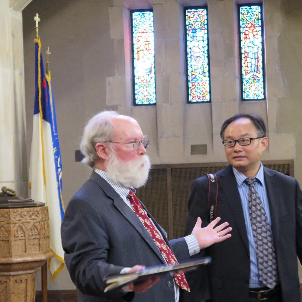 Dr. Walt Conser and Rev. Shi Li