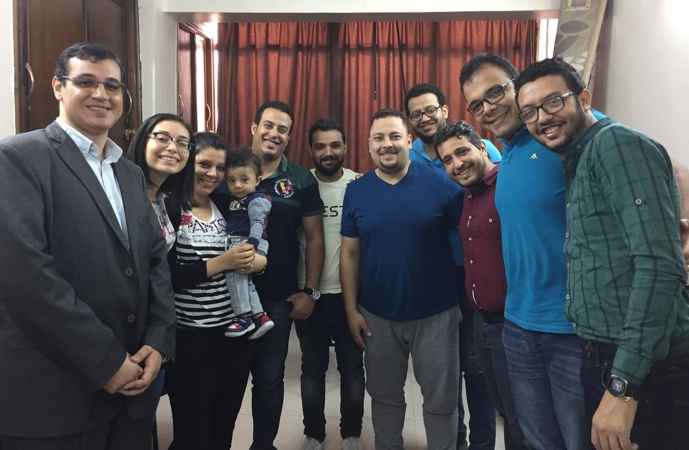 Rev. Wael with the Sports Ministry team