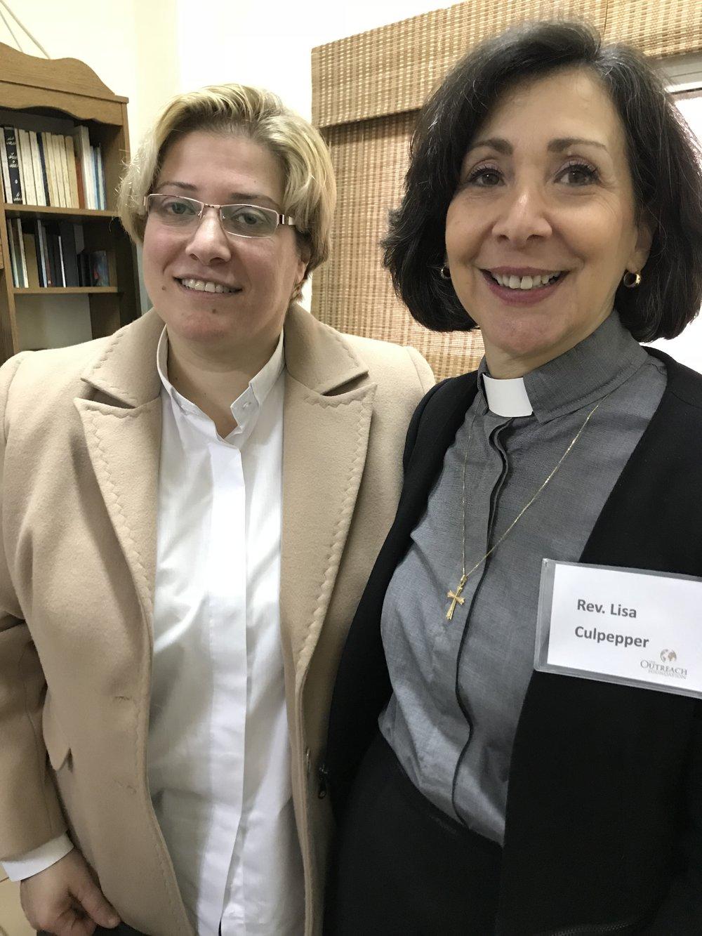 Rev. Rola Sleiman and Rev. Dr. Lisa Culpepper