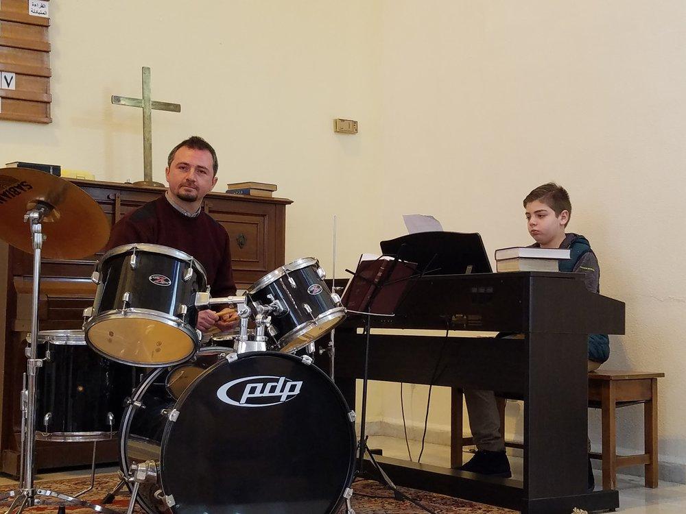 Elder Paul with Jack on keyboard