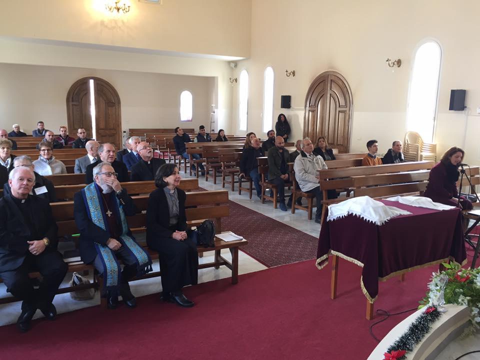 Worshiping at the Kherbet Kanafer Presbyterian Church