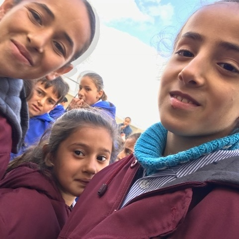 The beautiful faces of Syrian children learning in Anjar