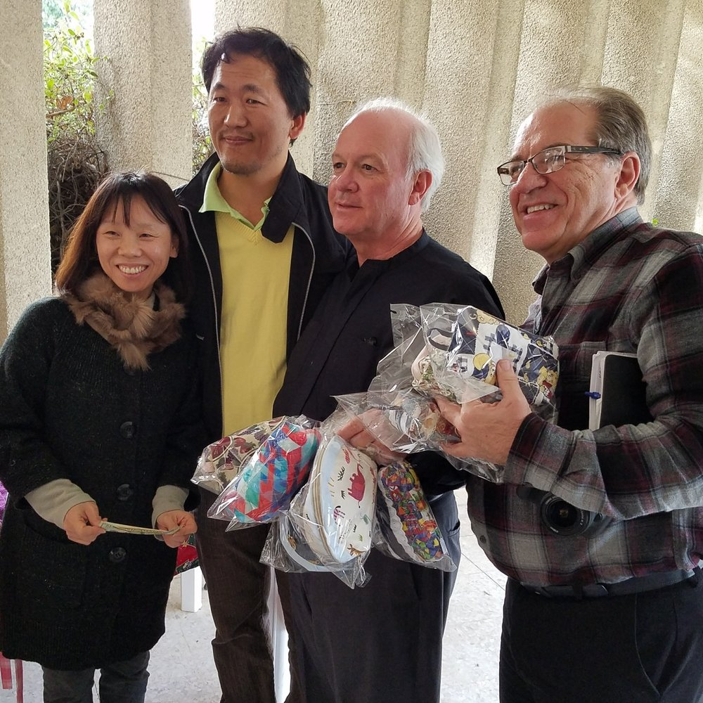 Korean missionaries in Sidon help our two Jacks purchase items resulting from their ministry with Syrian refugees