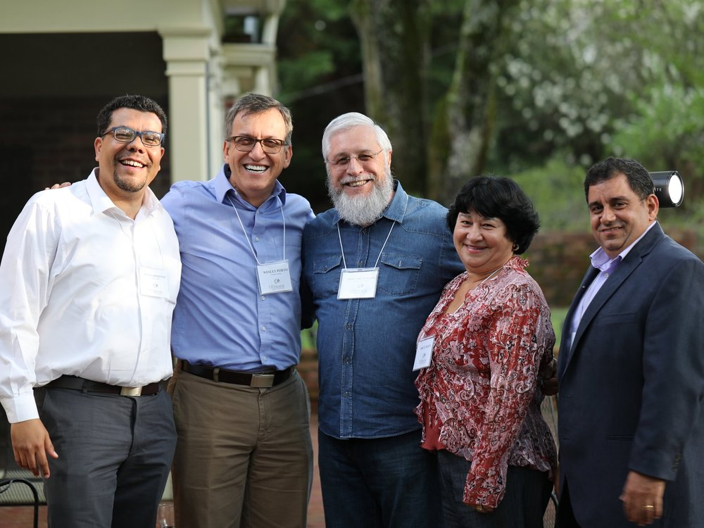 Missionaries of The Outreach Foundation, from left to right: Juan Sarmiento, Wesley Porto, José Carlos Pezini, Odete Pezini, Fakhri Yacoub