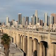 A view of downtown Los Angeles from Boyle Heights
