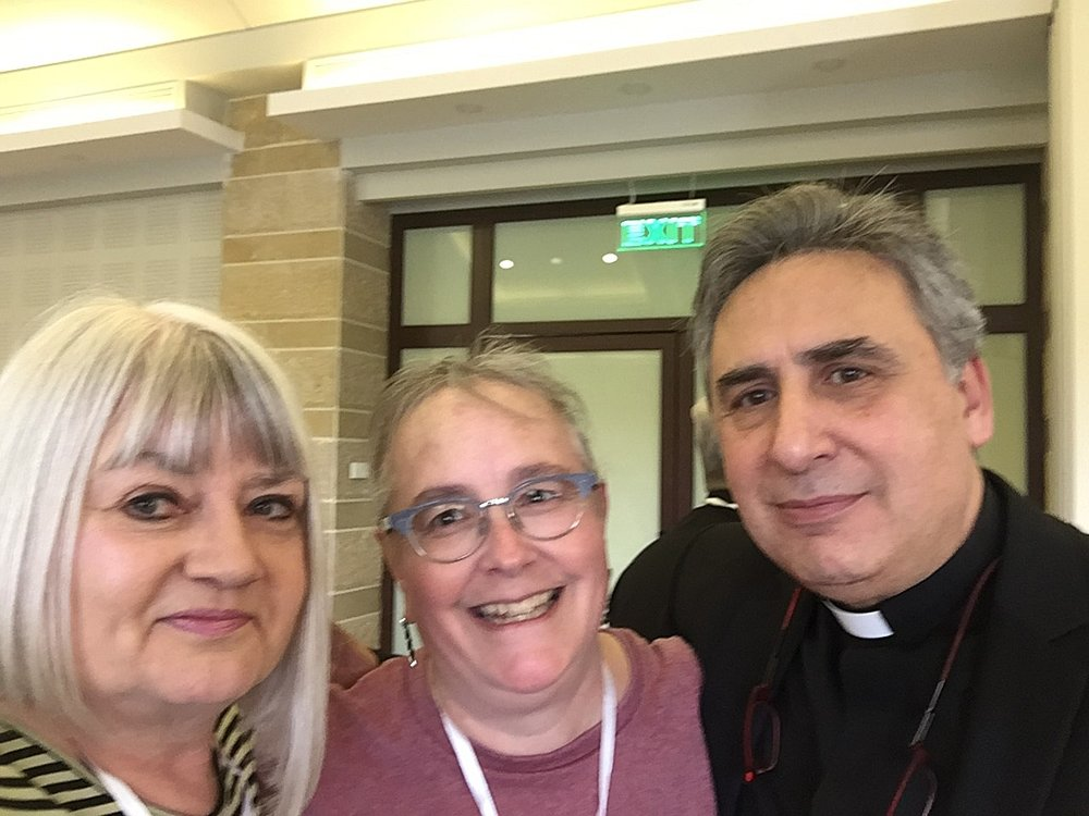 Marilyn and Julie with Rev. Joseph Kassab