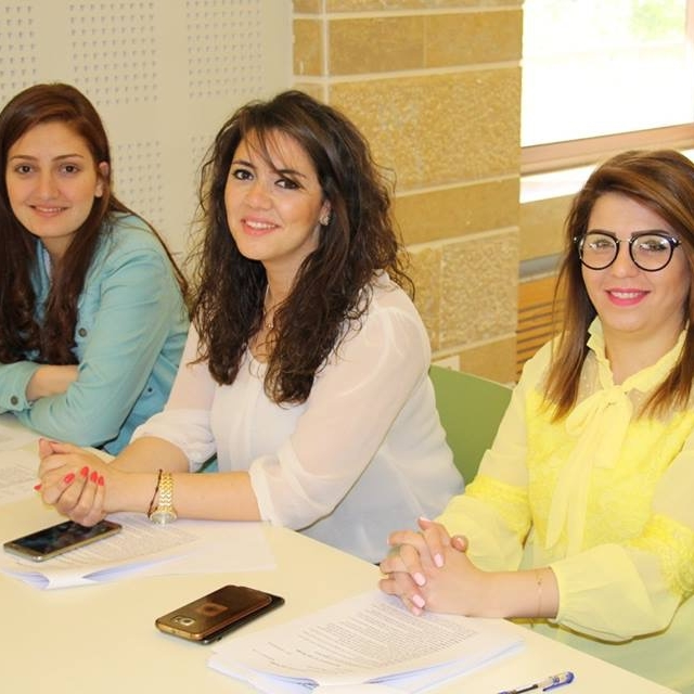 Pamela of Aleppo and Ola and Nermeen of Homs are youth leaders who have stayed and said YES.