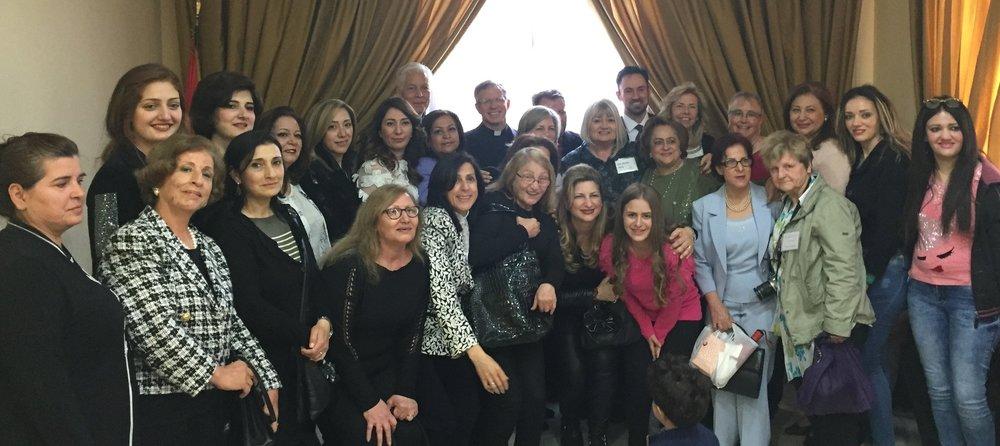 Outreach team with some of the members of Aleppo Presbyterian Church