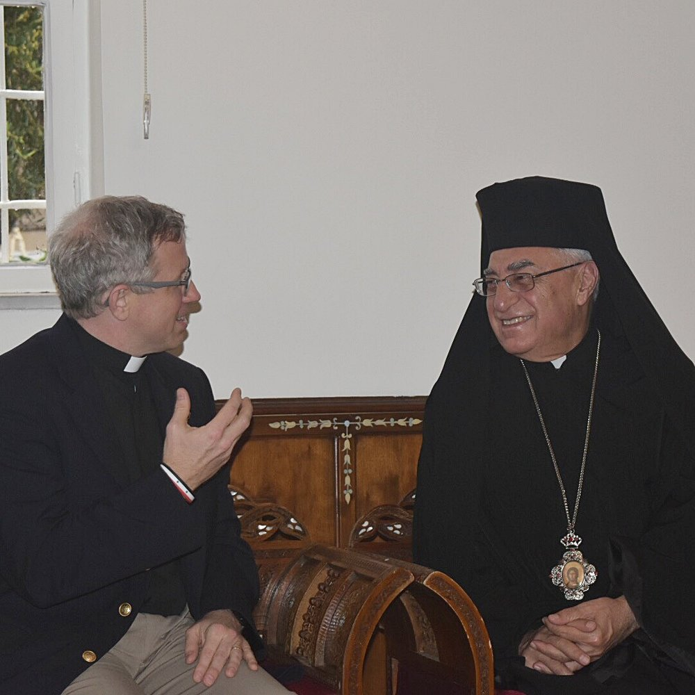 Tom with Patriarch Yousef Absi of the Greek Catholic Church