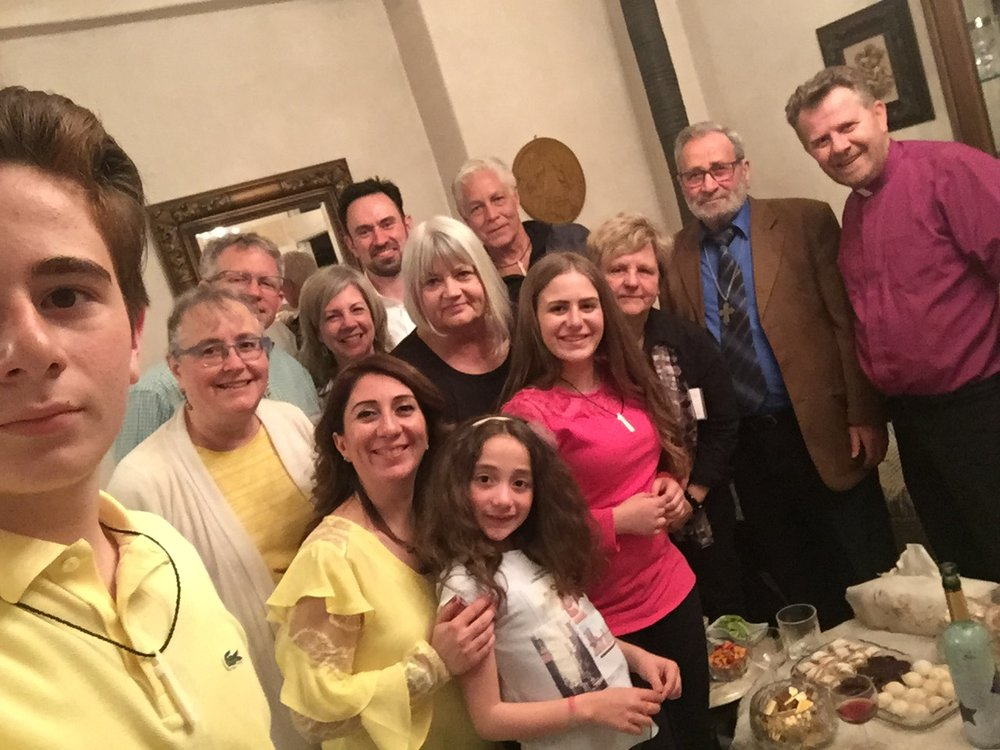 An oh-so-normal Sunday supper in the Aleppo home of Rev. Ibrahim Nseir his wife, Tami, and their children