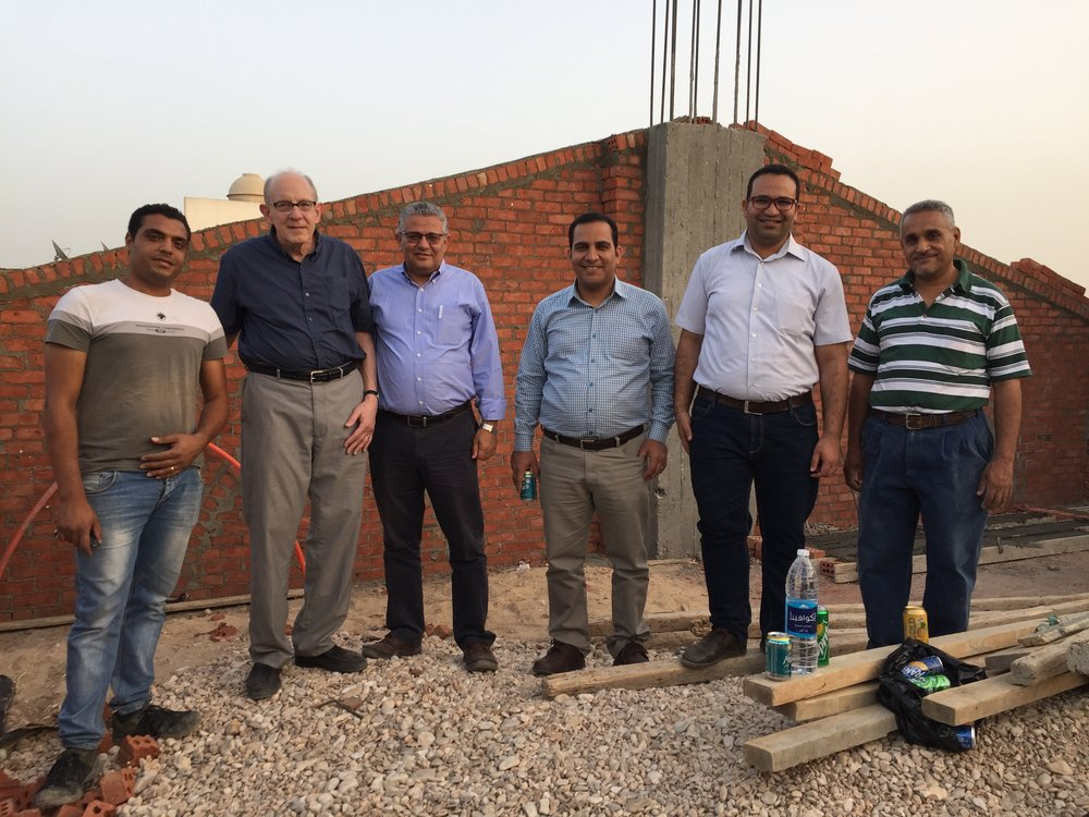 Jesus is building his church - Rob and Tharwat with pastors on roof