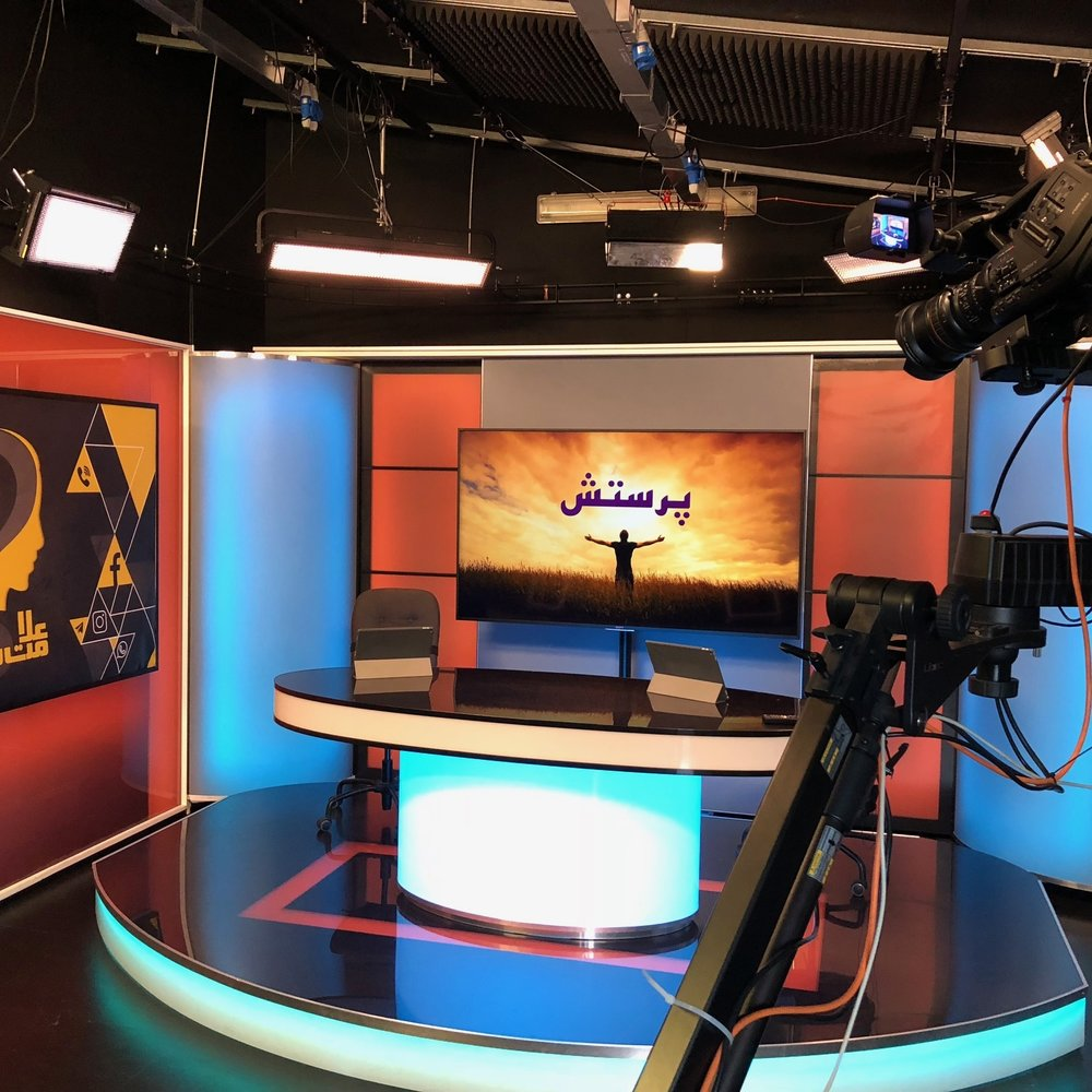 Pars SAT7 Studio outside of London